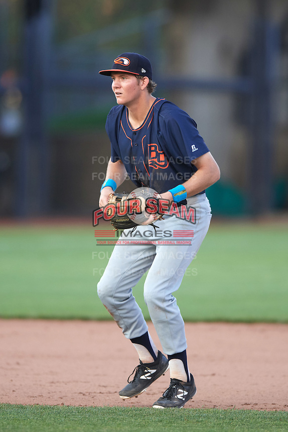 Bowing Green Hot Rods shortstop Michael Russell (22) during a game against the Quad Cities River Bandits on July 24, 2016 at Modern Woodmen Park in Davenport, Iowa.  Quad Cities defeated Bowling Green 6-5.  (Mike Janes/Four Seam Images)