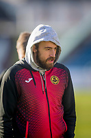 8th February 2020; Dens Park, Dundee, Scotland; Scottish Championship Football, Dundee versus Partick Thistle; Stuart Bannigan of Partick Thistle inspects the pitch before the match