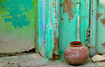 Pot near doorway, Rajasthan, India