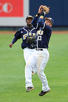 17 April 2010:  FIU's Junior Arrojo (13) pulls in a fly ball in the fifth inning as the FIU Golden Panthers defeated the University of New Orleans Privateers, 6-4, at University Park Stadium in Miami, Florida.