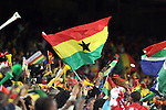 13 JUN 2010:  Ghana supporters go wild over their game winning goal.  The Serbia National Team played the Ghana National Team at Loftus Versfeld Stadium in Tshwane/Pretoria, South Africa in a 2010 FIFA World Cup Group D match.