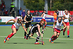 Glasgow 2014 Commonwealth Games<br /> Wales v England<br /> Sarah Jones in action for Wales.<br /> Glasgow National Hockey Centre<br /> <br /> 24.07.14<br /> ©Steve Pope-SPORTINGWALES