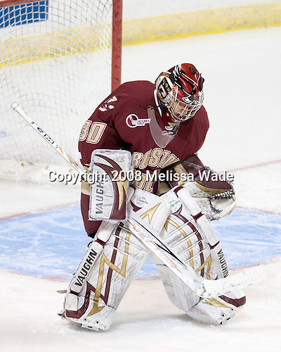 Andrew Margolin (BC - 30) - The Boston College Eagles defeated the Miami University RedHawks 4-3 in overtime on Sunday, March 30, 2008 in the NCAA Northeast Regional Final at the DCU Center in Worcester, Massachusetts.