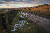 The path along Brun Moor on the Marsden Moor Estate, Saddleworth, West Yorkshire.
