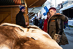BRUSSELS - BELGIUM - 30 November 2018 -- Christmas market in Brussels features a specialty: the Finnish Village. -- Reindeer fur stand. -- PHOTO: Juha ROININEN / EUP-IMAGES