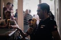 Alberto Contador (ESP/Trek-Segafredo) during a live radio interview on the first restday<br /> <br /> 104th Tour de France 2017<br /> first restday