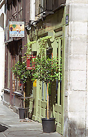 Wine bar Rouge Groge in the Marais quarters in Paris Paris, France.