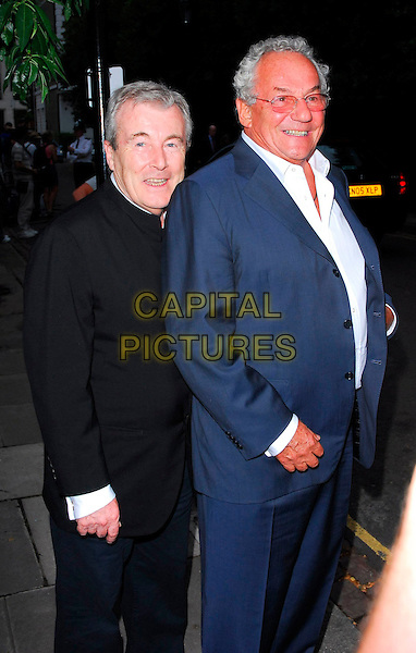 TERRY O'NEIL & JOHNNY GOLD.Sir David Frost Summer Party, Carlyle Square, London, UK..July 5th, 2006.Ref: CAN.half length black blue suit jacket.www.capitalpictures.com.sales@capitalpictures.com.©Capital Pictures
