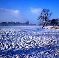 English winter landscape North Yorkshire, England.