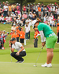 TAOYUAN, TAIWAN - OCTOBER 27:  Suzann Pettersen of Norway lines up a putt on the 9th hole during the day three of the Sunrise LPGA Taiwan Championship at the Sunrise Golf Course on October 27, 2012 in Taoyuan, Taiwan.  Photo by Victor Fraile / The Power of Sport Images