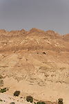 Israel, Judean desert. A view of Nahal Arugot from Mount Zeruya