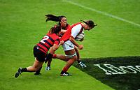 Canterbury v Poverty Bay Women on day one of the 2018 Bayleys National Sevens at Rotorua International Stadium in Rotorua, New Zealand on Saturday, 13 January 2018. Photo: Dave Lintott / lintottphoto.co.nz