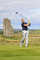 David Lally (Mullingar) on the 13th tee during Round 2 of The South of Ireland in Lahinch Golf Club on Sunday 27th July 2014.<br /> Picture:  Thos Caffrey / www.golffile.ie
