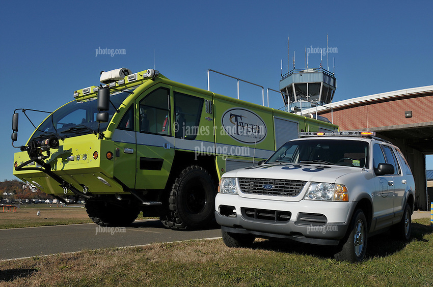 Tweed-New Haven Airport Disaster and Fire Fighting Equipment. Rosenbauer Panther 4x4 Rescue and Fire Intervention Vehicle with Foam and Water Applications.