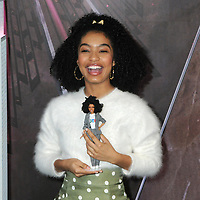 08 March 2019 - New York, New York - Yara Shahidi. Yara Shahidi for Mattel lights the Empire State Building pink for Barbie&rsquo;s 60th Anniversary. <br /> CAP/ADM/LJ<br /> &copy;LJ/ADM/Capital Pictures