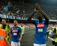 Kalidou Koulibaly at the end the  italian serie a soccer match,  SSC Napoli - Milan      at  the San  Paolo   stadium in Naples  Italy , August 25, 2018