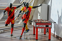 20191122 – BRUSSELS , BELGIUM :   New outfit National teams pictured during the press conference of the launch of the Pro League 2020 Panini album for season 2019-2020 , friday 22 th November 2019 at the building of the Pro League – houba de strooperlaan 145 in Brussels  , Belgium  .  PHOTO SPORTPIX.BE | Stijn Audooren