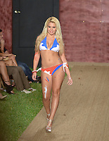Miss Kendall Teen USA 2013, Nikki Rodriguez, walks runway at Wet Couture Swimwear Show during Funkshion Fashion Week Miami Beach Swim 2013 at Miami Beach, FL on July 18, 2012
