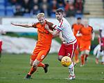 17.04.18 Brechin City v Dundee utd:<br /> Thomas Mikklesen and Paul McLean