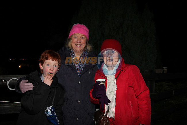 Joseph Pentony Black, Deirdre Black and Ann Lawlor.at the switching on of the lights at Toners house on the Slane road..Picture: Fran Caffrey/www.newsfile.ie.
