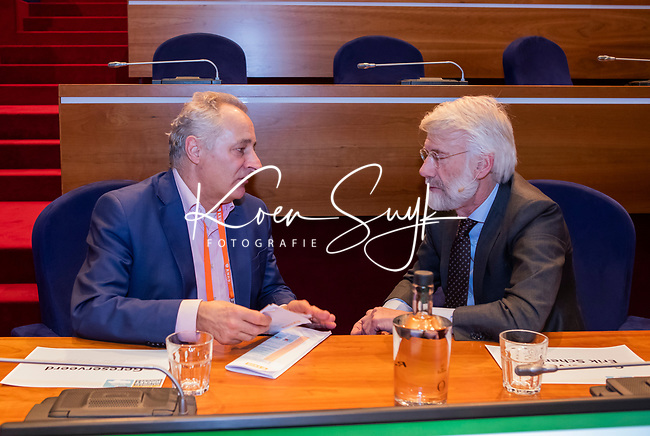 UTRECHT - dagvoorzitter Tom van 't Hek met   Nationaal Hockey Congres van de KNHB, COPYRIGHT KOEN SUYK