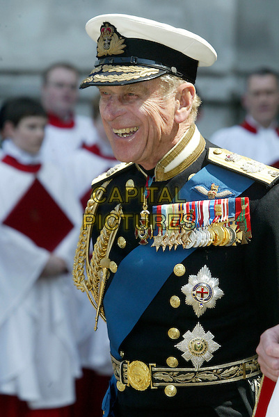 PRINCE PHILLIP.60th Anniversary Of End Of World War 2.National Commemoration Day.London 10 July 2005 .Ref: FNW.WWII two Philip uniform half length hat.www.capitalpictures.com.sales@capitalpictures.com.© Capital Pictures.