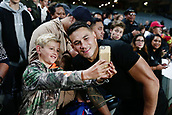 16th June 2017, Eden Park, Auckland, New Zealand; International Rugby Pasifika Challenge; New Zealand versus Samoa;  Sonny Bill Williams of New Zealand takes a photo with a young fan after the match