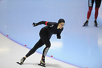 SCHAATSEN: HEERENVEEN: Thialf, 4th Masters International Speed Skating Sprint Games, 25-02-2012, Tessa Keur (F40) 3rd, ©foto: Martin de Jong