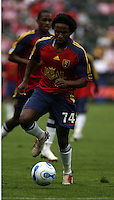 Real Salt Lake forward Jeff Cunningham dribbles the ball. Chivas USA beat Real Salt Lake at the Home Depot Center 3-0 in Carson, Calif. on April 2, 2006.