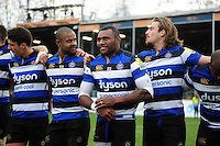 Semesa Rokoduguni of Bath Rugby is all smiles after the match. Aviva Premiership match, between Bath Rugby and Saracens on December 3, 2016 at the Recreation Ground in Bath, England. Photo by: Patrick Khachfe / Onside Images