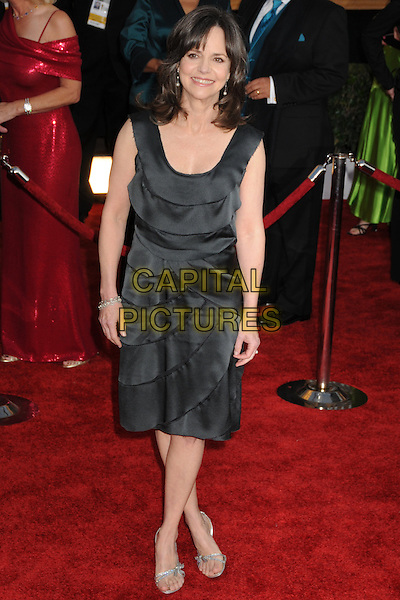 SALLY FIELD.The 15th Annual Screen Actors Guild Awards held at the Shrine Auditorium, Los Angeles, California, USA..January 25th, 2009.SAG arrivals full length black dress .CAP/ADM/BP.©Byron Purvis/AdMedia/Capital Pictures.