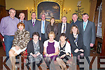 EIRCOM: Eircom personell who hled their Christmas party  as they in The Grand Hotel, Tralee to celebrate Christmas. Front l-r: Mary O'Connor, Clara Reidy, Margaret Galvin,Brigid Crowley and Eileen Brosnan. Back l-r: Hugh O'Connell, Paddy O'Connor, Mike Nolan, Richard McEnery, Ann Nolan, Dan Galvin and JJ Crowley.. . ............................... ..........
