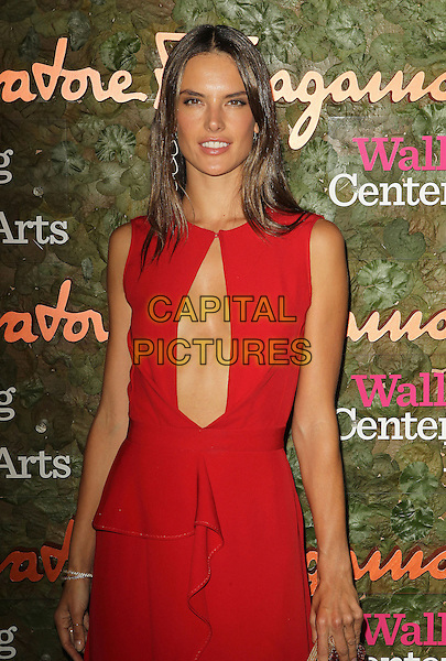 Alessandra Ambrosio<br /> Wallis Annenberg Center For The Performing Arts Inaugural Gala held at Wallis Annenberg Center For The Performing Arts,  Beverly Hills, California, USA, 17th October 2013.<br /> half length red dress long maxi sleeveless cut out <br /> CAP/ADM/KB<br /> &copy;Kevan Brooks/AdMedia/Capital Pictures