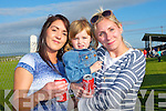 RACES: Clarica Garcia, Ava Flaherty and Lyndsey Galway, Ballyheigue, supporting the Ballyheigue Summer Festival Pigs Races at Ballyheigue GAA Grounds on Friday evening.