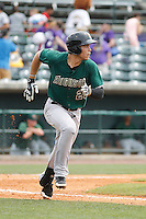 Augusta GreenJackets infielder Jonah Arendo (20) at bat during a game against the Charleston Riverdogs at Joseph P.Riley Jr. Ballpark on April 15, 2015 in Charleston, South Carolina. Charleston defeated Augusta 8-0. (Robert Gurganus/Four Seam Images)