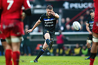 Rhys Priestland of Bath Rugby kicks for the posts. Heineken Champions Cup match, between Stade Toulousain and Bath Rugby on January 20, 2019 at the Stade Ernest Wallon in Toulouse, France. Photo by: Patrick Khachfe / Onside Images