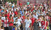 RECIFE, PE, 24 DE FEVEREIRO 2013 - CAMPEONATO PERNAMBUCANO - NÁUTICO x PETROLINA: Polícia monitora atuação da torcida  no 1° jogo no após o torcedor do Náutico ter sido baleado, o que motivou a Justiça proibir a presença das organizadas nos estadios de Pernambuco. 1° rodada do campeonato Pernambucano do 2° turno disputada no estadio dos Aflitos no Recife. FOTO: LÍBIA FLORENTINO - BRAZIL PHOTO PRESS