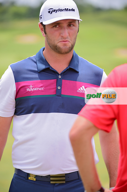 Jon Rahm (ESP) on the practice tee during the Wednesday practice day of the 117th U.S. Open, at Erin Hills, Erin, Wisconsin. 6/14/2017.<br /> Picture: Golffile   Ken Murray<br /> <br /> <br /> All photo usage must carry mandatory copyright credit (&copy; Golffile   Ken Murray)
