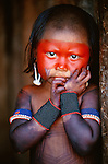 Kayapo Girl, Kapoto Village, Para, Brazil<br />