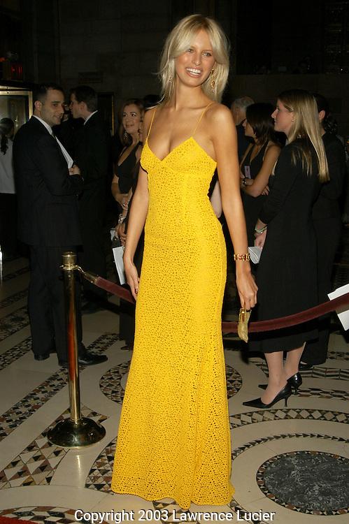 Karolina Kurkova in a Michael Kors dress