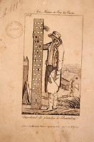 Europe/France/Champagne-Ardenne/51/Marne/Epernay: Le musée municipal - Affichette - Marchand de planches - Lithographie fin XIXème
