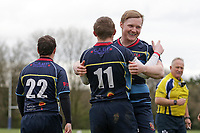 Coopers score their seventh try during Old Cooperians RFC vs Barking RFC, London 3 Essex Division Rugby Union at the Coopers Company and Coborn School on 14th March 2020
