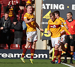 17.02.2019: Motherwell v Hearts: David Turnbull celebrates his last gasp goal for Motherwell