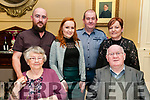 Wedding Anniversary : Peg & Joe Heffernan, Listowel, front, celebrating their 54th wedding anniversary awith family at the Listowek Arms Hotel on Saturday night last.Back ; Kevin, Jessica, Robert & Breda Heffernan