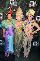 NEW YORK, NY - OCTOBER 30: (L-R) Executive Director of NYRP Deborah Marton, Bette Midler, and her daughter Sophie von Haselberg, attend  Bette Midler's Annual Hulaween Event Benefiting The New York Restoration Project, at the Cathedral of St. John the Divine on Monday, October 30, 2017  in New York. Credit: Raymond Hagans/MediaPunch /NortePhoto.com