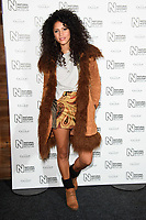 Vick Hope arriving for the Natural History Museum Ice Rink launch party 2017, London, UK. <br /> 25 October  2017<br /> Picture: Steve Vas/Featureflash/SilverHub 0208 004 5359 sales@silverhubmedia.com