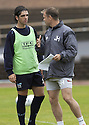 29/07/2005         Copyright Pic : James Stewart.File Name : jspa05 falkirk training.FALKIRK  MANAGER JOHN HUGHES TALKS TO TIAGO JONAS RODRIGUES AS HE TAKES HIS FINAL TRAINING SESSION BEFORE HIS TEAM'S DEBUT IN THE SCOTTISH PREMIER LEAGUE.....Payments to :.James Stewart Photo Agency 19 Carronlea Drive, Falkirk. FK2 8DN      Vat Reg No. 607 6932 25.Office     : +44 (0)1324 570906     .Mobile   : +44 (0)7721 416997.Fax         : +44 (0)1324 570906.E-mail  :  jim@jspa.co.uk.If you require further information then contact Jim Stewart on any of the numbers above.........