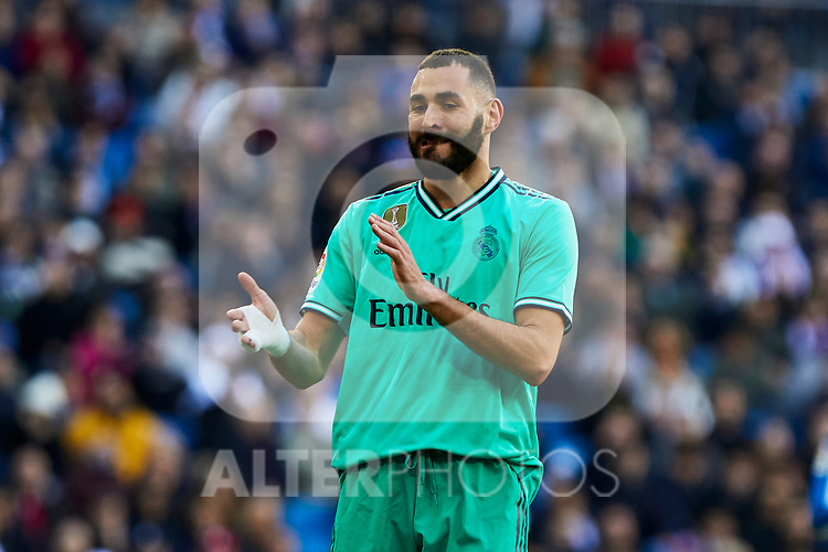 Karim Benzema of Real Madrid during La Liga match between Real Madrid and RCD Espanyol at Santiago Bernabeu Stadium in Madrid, Spain. December 07, 2019. (ALTERPHOTOS/A. Perez Meca)