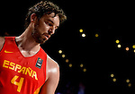 Spain's centre Pau  Gasol during the 2014 FIBA World basketball championships quarters of final match Spain vs France at the Palacio de los Deportes in Madrid on September 10, 2014.  PHOTOCALL3000 / DP