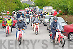 The bikes leave the Old Killarney Inn, Aghadoe at the start of the Honda 50 challenge in aid of The South Kerry Parkinsons society on Sunday morning.